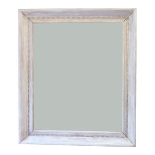 19th C. Whitewashed Mirror For Sale
