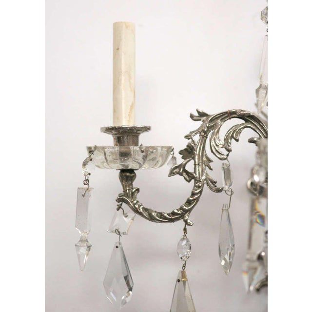 19th Century Nickel-Plated Bronze Rococo Dragon Wall Sconce Set of Four - Image 8 of 8