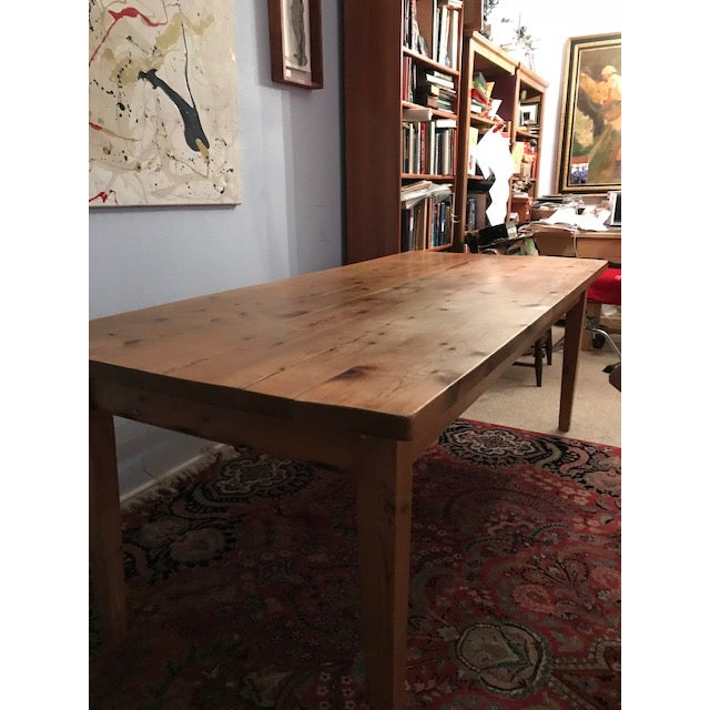 Pine Antique Pine Farm French Table For Sale - Image 7 of 13