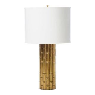 "Small Barbara Cosgrove Brass Bamboo Lamp, 20""h For Sale"