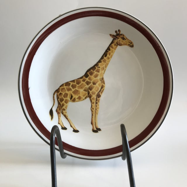 Mottahedeh Italian Ceramic Leopard and Giraffe Plates - Set of 2 For Sale - Image 9 of 10