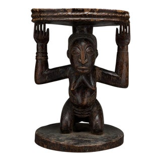 Hemba Wooden Caryatid Stool For Sale