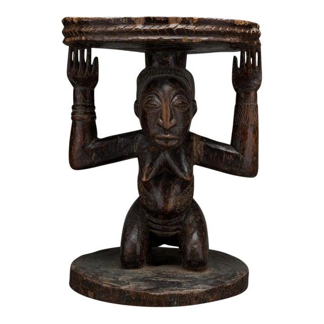 Hemba Wooden Caryatid Stool For Sale