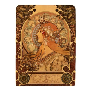 """1993 After Alphonse Mucha Large Poster for the Periodical """"La Plume"""", First German Edition"""