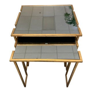 Mirrored Nesting Tables - a Pair For Sale
