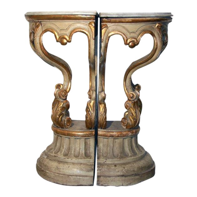 19th Century Italian Corner Consoles For Sale