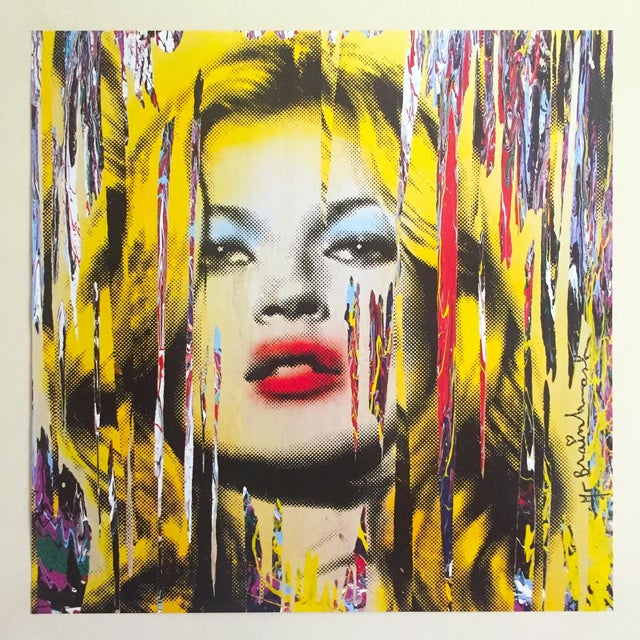 """Mr. Brainwash """" Kate Moss """" Rare Authentic Lithograph Print Pop Art Poster For Sale - Image 11 of 13"""
