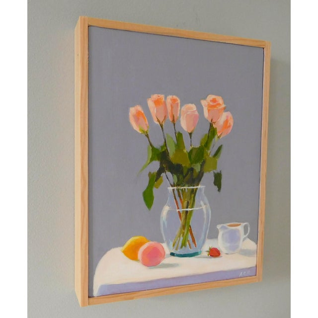 Impressionism Roses With Fruit and Creamer by Anne Carrozza Remick For Sale - Image 3 of 6