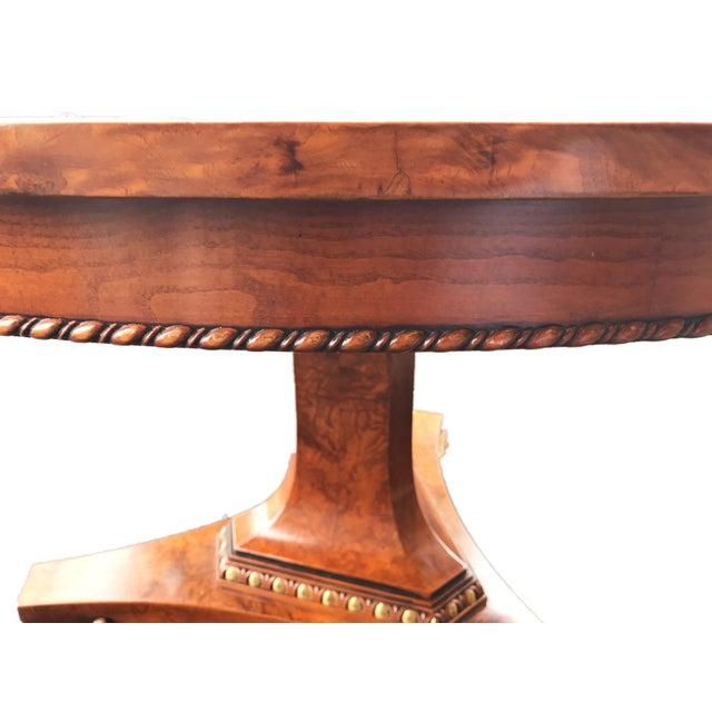 1960s French Empire Walnut Pedestal Table For Sale - Image 5 of 13