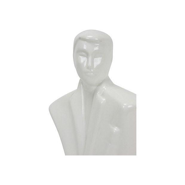 80s Art Deco-Redux Gentleman Bust - Image 3 of 4