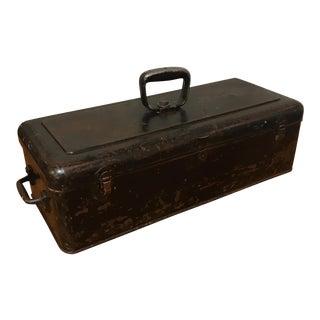 Antique Industrial Metal Toolbox