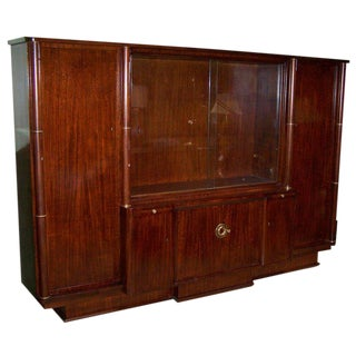 "French Mahogany ""Bibliotecque"" by Dominique For Sale"
