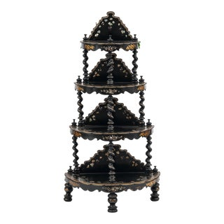 English Victorian Papier Mache Étagère For Sale
