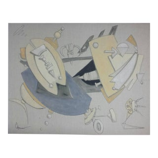 """Contemporary Abstract Oil Painting """"Dialogo Astral"""" by Maximo Caminero For Sale"""