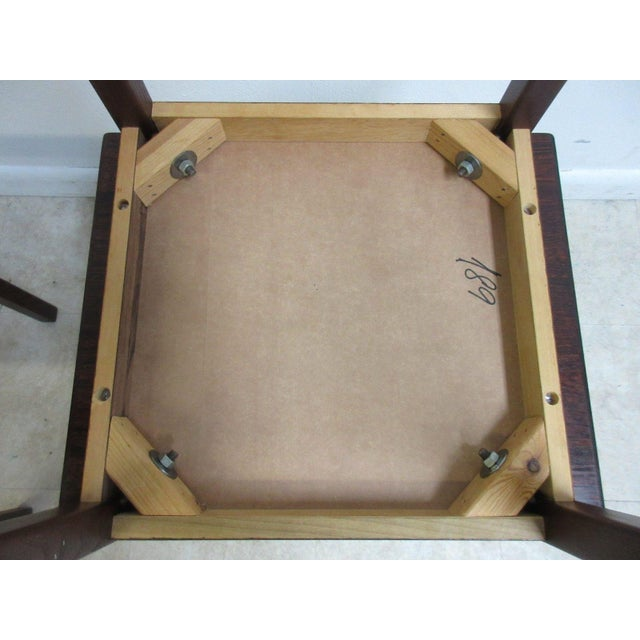 Brown Vintage Danish Modern Rosewood Nesting Tables - Set of 3 For Sale - Image 8 of 9