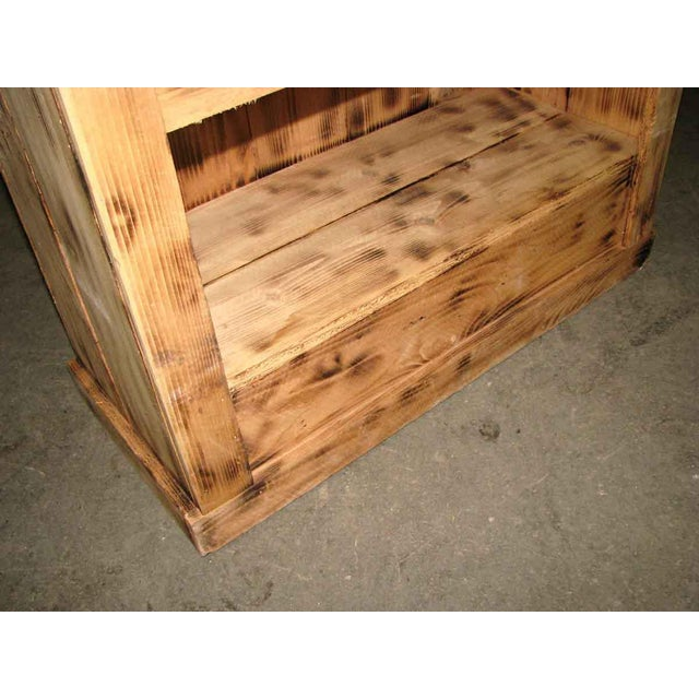 Late 20th Century Tall Narrow Pine Rustic Book Case For Sale - Image 5 of 8