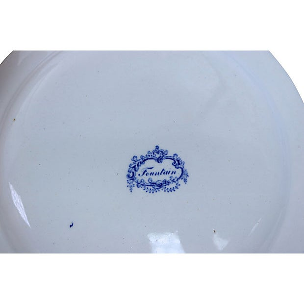 Cottage 1830s Staffordshire Dinner Plates - S/4 For Sale - Image 3 of 4