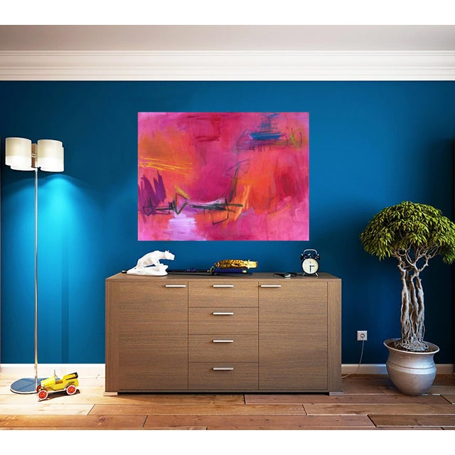"""Large Abstract Painting by Trixie Pitts """"High Road"""" - Image 6 of 6"""