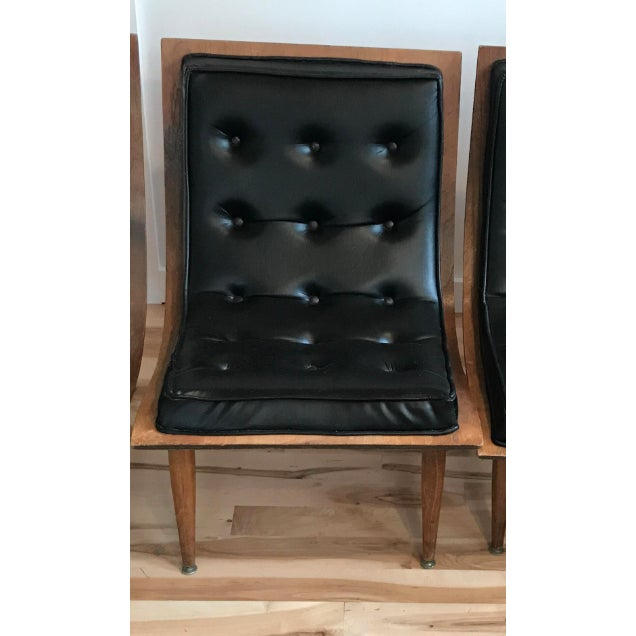 1960s Vintage Carter Brothers Black Scoop Chair For Sale - Image 11 of 11