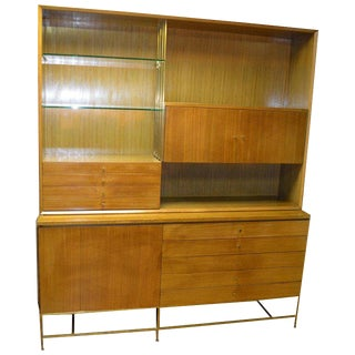 Paul McCobb Calvin Group Irwin Collection, Shelving Storage Cabinet, Circa 1960. For Sale