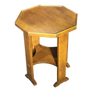 Stickley Mission Collection Oak Ocatgonal Table