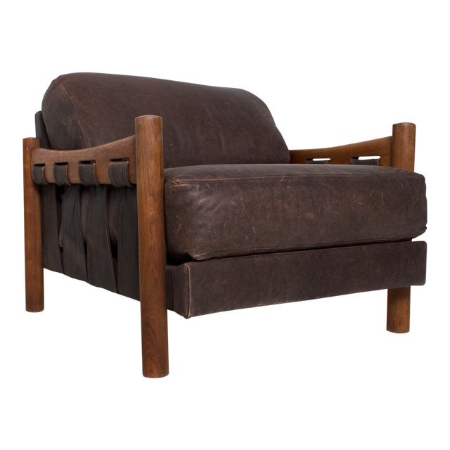Mid Century Modern Craft Associates Brazilian Leather Lounge Safari Chair For Sale