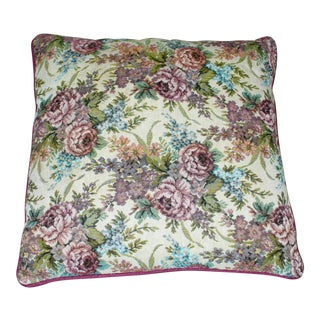 Floral Tapestry Multi Colored Throw Pillow