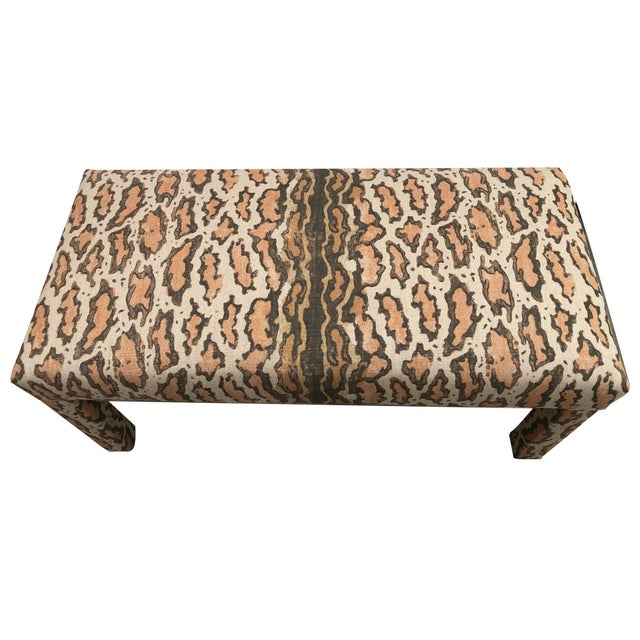Late 20th Century Parson Upholstered Bench For Sale - Image 4 of 9