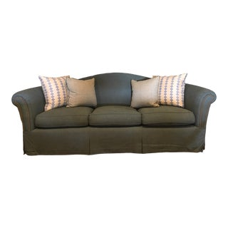 Late 20th Century Camelback Three-Seat Sofa For Sale