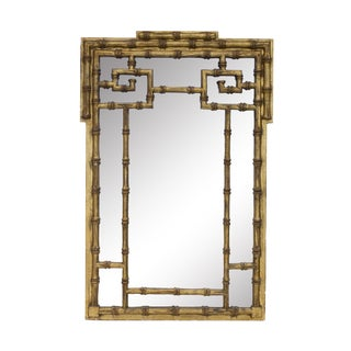 Gilt Faux Bamboo Mirror by Labarge For Sale