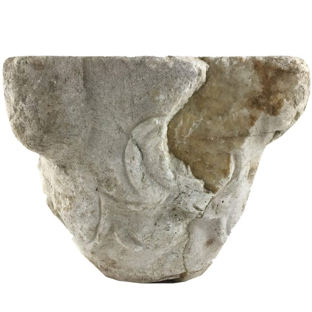 Age has been a friend to this hand-carved stone pot. Originally used as a mortar for grinding everything from spices to...