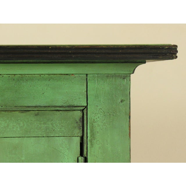 Iron 19th C. American Green Painted Cupboard For Sale - Image 7 of 12