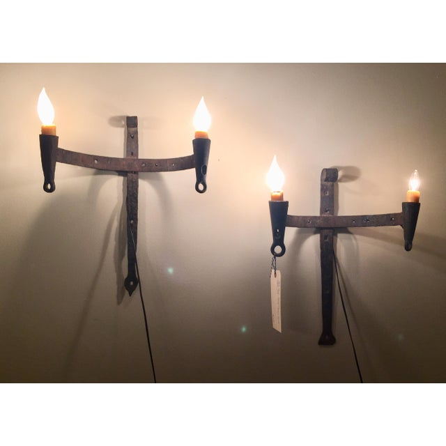Vintage gothic wall sconces a pair chairish vintage gothic wall sconces a pair image 4 of 5 aloadofball Gallery