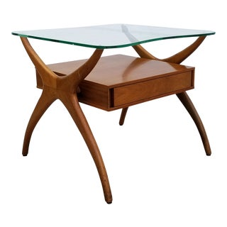 Vladimir Kagan Walnut End Table For Sale