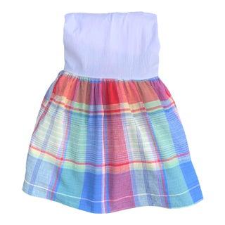 Ralph Lauren Home Spinnaker Madras Plaid Full Size Bed Skirt For Sale