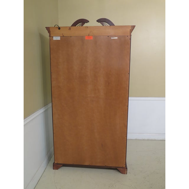 Lineage Chippendale Style Cherry 2 Door Curio Cabinet For Sale - Image 9 of 11