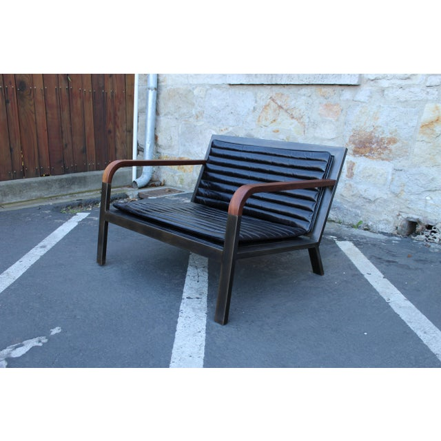 Black Uhuru Design Breini Black Leather Armchair For Sale - Image 8 of 8