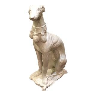 Vintage Greyhound Dog Sculpture For Sale