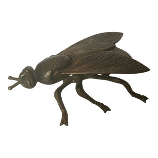 Mid-Century Italian Brass Insect Trinket Box For Sale