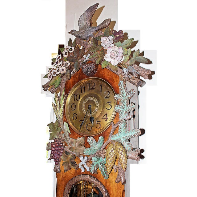 Late 19th Century Black Forest Grandfather Tall-Case Clock For Sale - Image 5 of 13