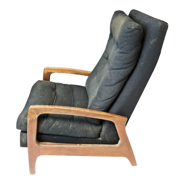Mid Century Modern Upholstered Recliner - Adrian Pearsall for Craft Associates For Sale