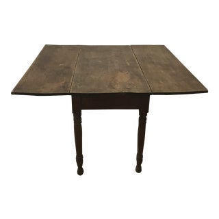 20t Century Primitive C. Burchardt Drop Leaf Table For Sale