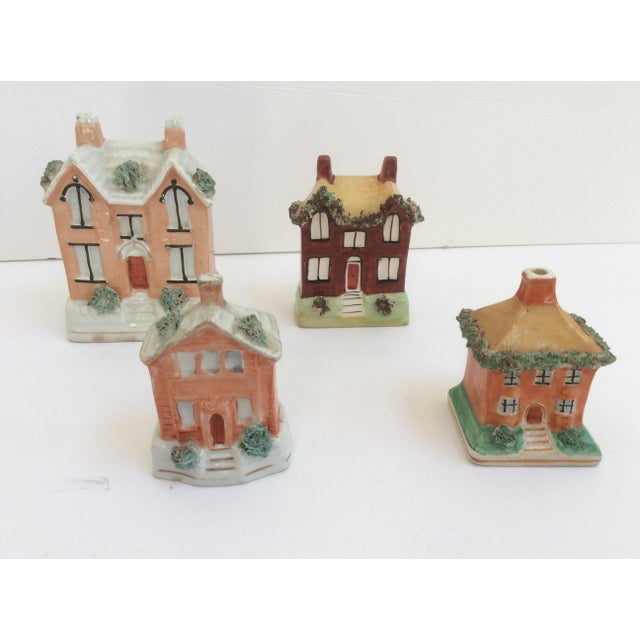 Yellow Staffordshire House Banks - Set of 4 For Sale - Image 8 of 9