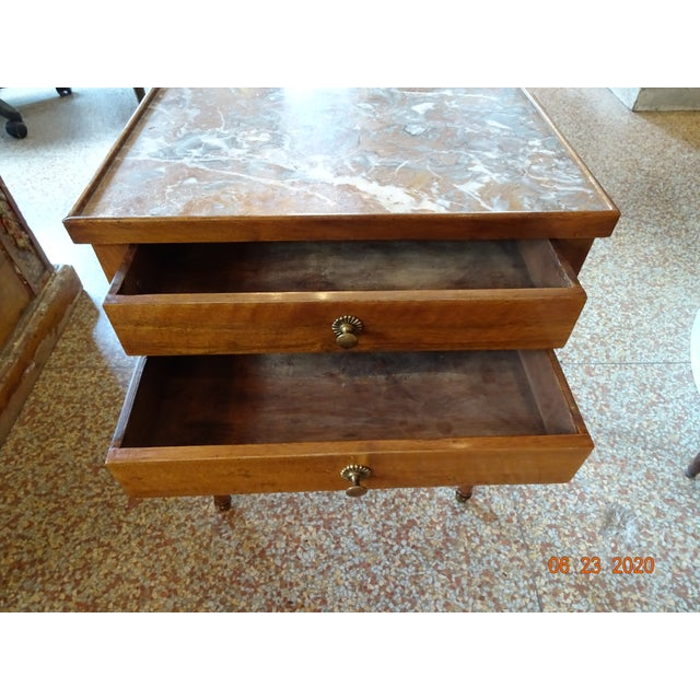 French Marble Side Table For Sale - Image 4 of 13