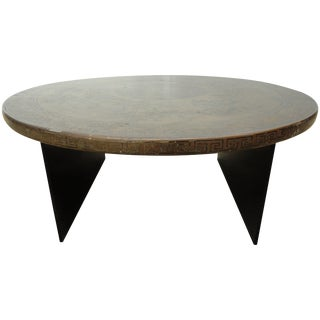 20th Century Chinese Round Painted Table For Sale