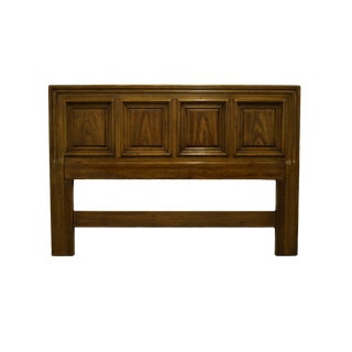 Traditional Henredon Gabberto Collection Walnut Queen Size Headboard For Sale