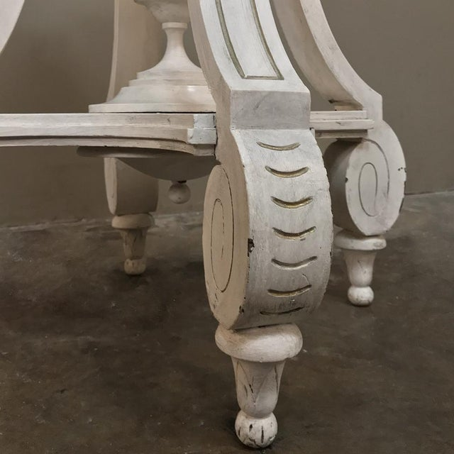 19th Century French Henri II Painted Lamp Table ~ Pedestal For Sale - Image 9 of 11
