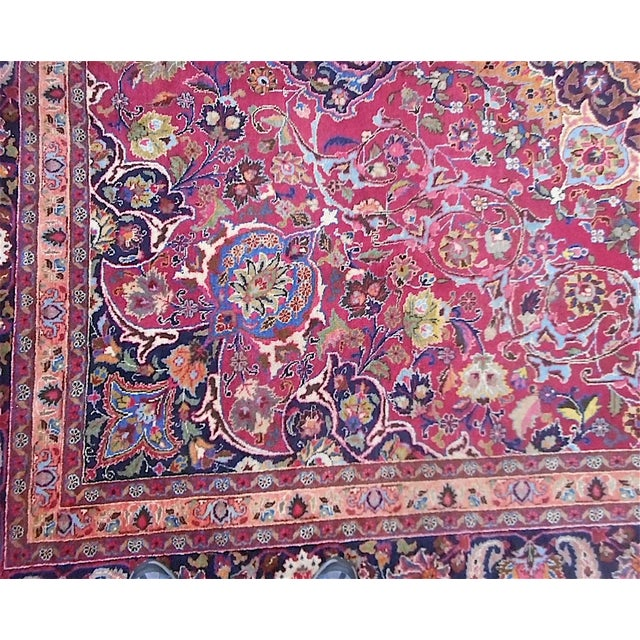Semi Antique Persian Medallion Rug - 9' x 12' - Image 7 of 10