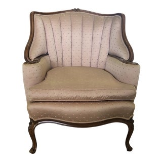 Victorian Style Channel Back Chair For Sale
