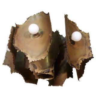 Brutalist Seven-Light Pendant / Chandelier by Tom Greene For Sale